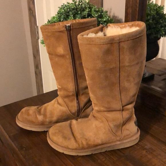 Ugg Kenley Tall Zipper Boots Chestnut 7